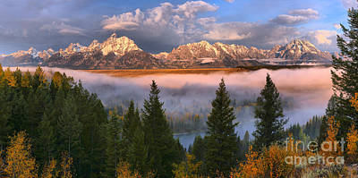 Photograph - Snake River Fog Framed By Pines by Adam Jewell