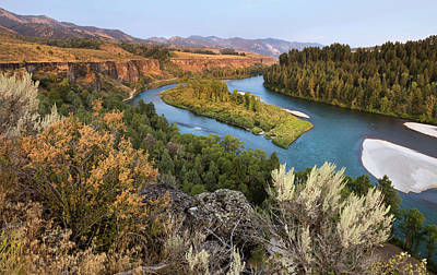 Photograph - Snake River - Heise Road by David Halter