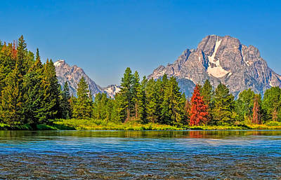 Wild And Wacky Portraits Rights Managed Images - Snake River in Grand Teton National Park Royalty-Free Image by Ginger Wakem