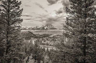 U.k Photograph - Snake River Overlook Grand Teton Monochromatic by Scott McGuire