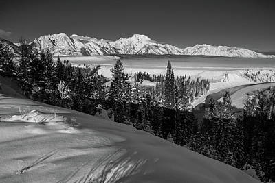 Photograph - Snake River Overlook-winter Scene 79 by Michael Balen