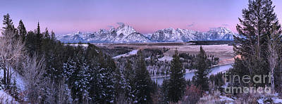 Photograph - Snake River Purple Sunrise Panorama by Adam Jewell