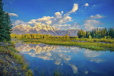 Photograph - Snake River Reflection Grand Teton by Scott McGuire