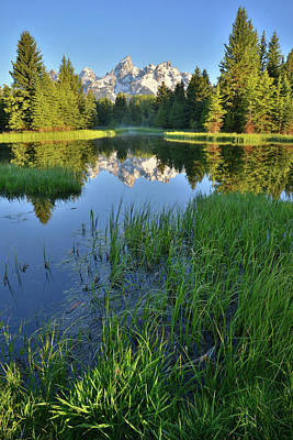 Photograph - Snake River Reflection Of Grand Tetons by Ray Mathis