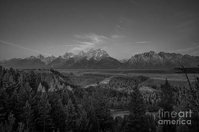 Reptiles Royalty-Free and Rights-Managed Images - Snake River Sunrise BW by Michael Ver Sprill