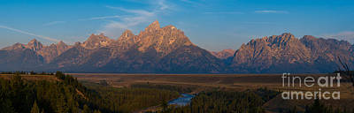 Surrealism Royalty Free Images - Snake River Sunrise Panorama Royalty-Free Image by Michael Ver Sprill