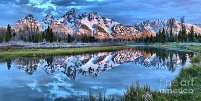 Photograph - Snake River Sunrise Reflections Panorama by Adam Jewell