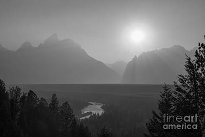 Reptiles Royalty-Free and Rights-Managed Images - Snake River Sunset BW by Michael Ver Sprill