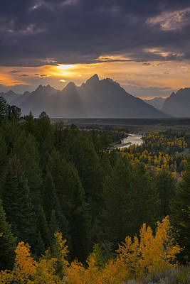 Grand Tetons Wall Art - Photograph - Snake River Sunset by Joseph Rossbach