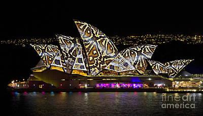 Photograph - Snake Sails - Sydney Opera House - Vivid Festival by Bryan Freeman