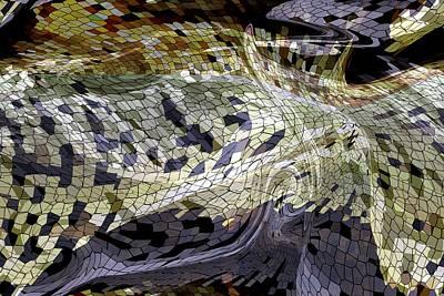Digital Art - Snake Skin Tile by rd Erickson