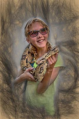Burmese Python Digital Art - Snake Wrap by John Haldane