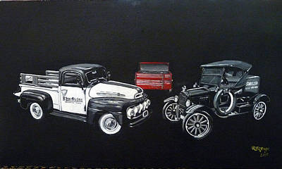 Painting - Snap-on Ford Trucks by Richard Le Page