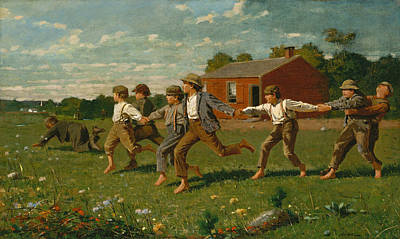 Snaps Painting - Snap The Whip by Winslow Homer