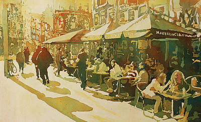 Snapshot Cafe Art Print by Jenny Armitage