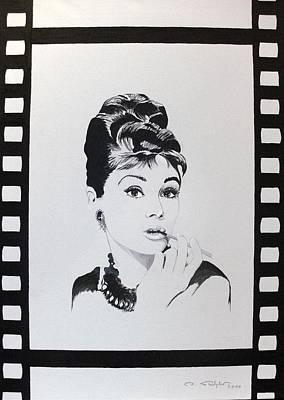 Audrey Hepburn Painting - snapshot in time II by Ingrid Stiehler