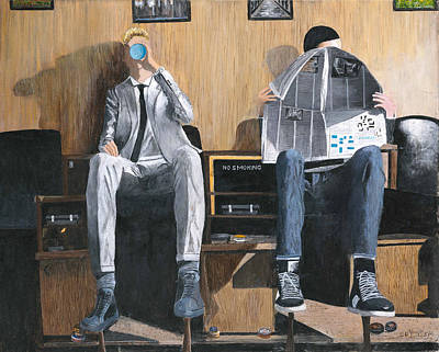 Painting - Sneakers Need Polishing Too by Stuart B Yaeger