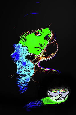 Digital Art - Sneaking Fruit Loops by John Haldane