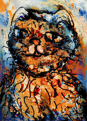 Domestic Short Hair Cat Painting - Sneaky Cat by Natalie Holland