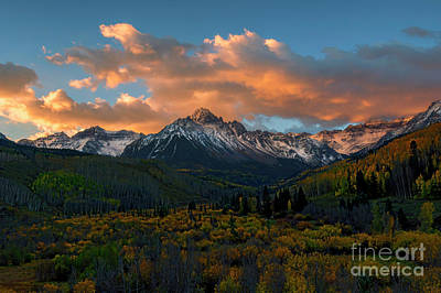 Photograph - Sneffels Autumn Sunrise by Mike Dawson