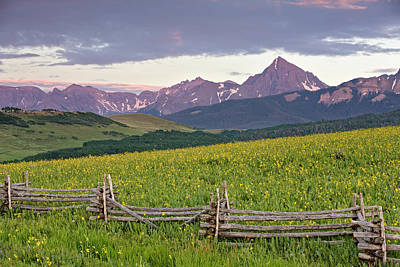 Photograph - Sneffels Fence 2 by Whit Richardson