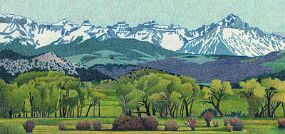 Sneffels Range Spring Art Print by Dan Miller