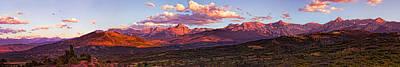 Sneffel's Range Sunset Art Print
