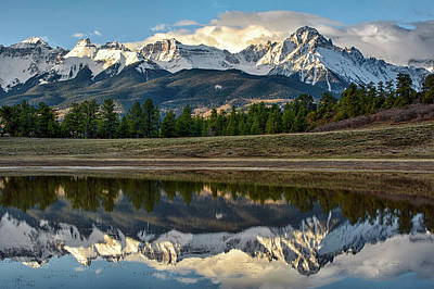 Sneffels Reflected Art Print