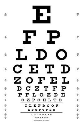 Eye Chart Digital Art - Snellen Chart - 9 Character by Martin Krzywinski