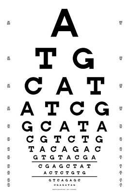 Eye Chart Digital Art - Snellen Chart - Genetic Sequence by Martin Krzywinski