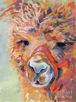 Alpaca Wall Art - Painting - Snickers by Kimberly Santini