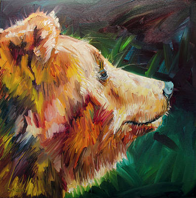 Painting - Sniff Bear by Diane Whitehead