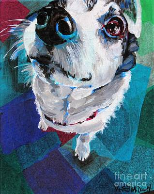 Mixed Media - Sniffing by Veronica McDonald
