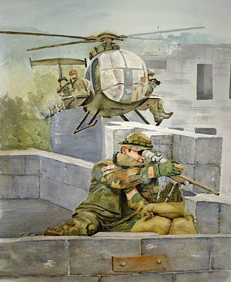 Sniper Military Tribute Art Print by Kerra Lindsey