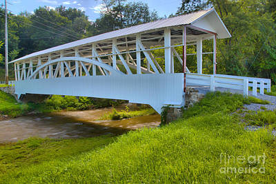 Photograph - Snook Covered Bridge by Adam Jewell