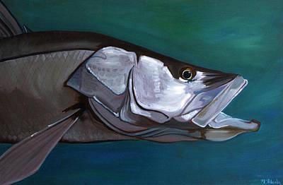 Painting - Snook by Monika Urbanska