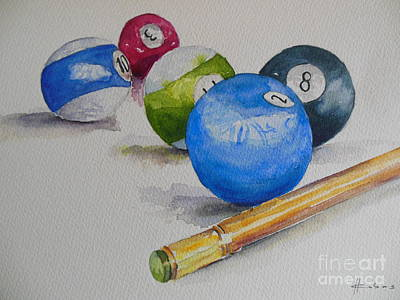 Snooker Painting - Snooker Balls by The Artist Brush