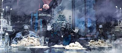 Music Painting - Snoop Dogg by Jani Heinonen