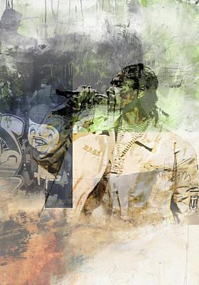 Singer Painting - Snoop Graffitti  257465 by Jani Heinonen