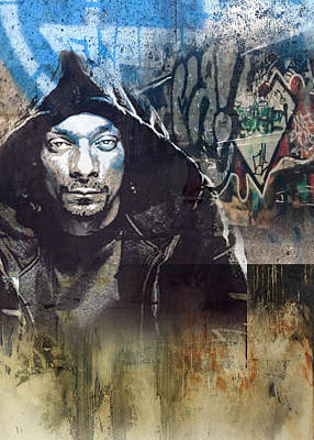 San Diego Artist Mixed Media - Snoop Graffitti 29 by Jani Heinonen