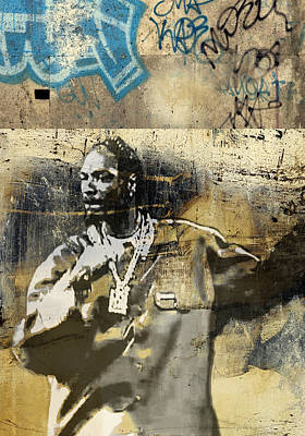 San Diego Artist Mixed Media - Snoop Graffitti  31 by Jani Heinonen