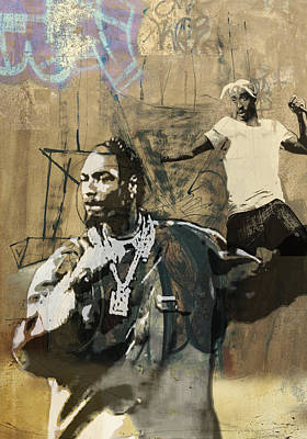 San Diego Artist Mixed Media - Snoop Graffitti  34 by Jani Heinonen