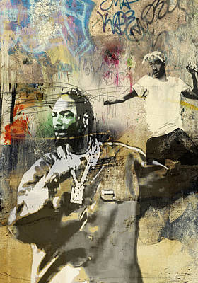 San Diego Artist Mixed Media - Snoop Graffitti  35b by Jani Heinonen