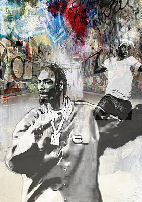 San Diego Artist Mixed Media - Snoop Graffitti  36 by Jani Heinonen