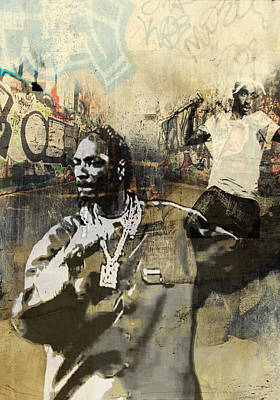 San Diego Artist Mixed Media - Snoop Graffitti  37 by Jani Heinonen