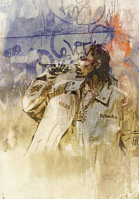 Snoop Graffitti 45667 Print by Jani Heinonen