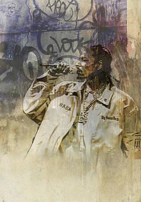 Snoop Dogg Painting - Snoop Graffitti 5 by Jani Heinonen