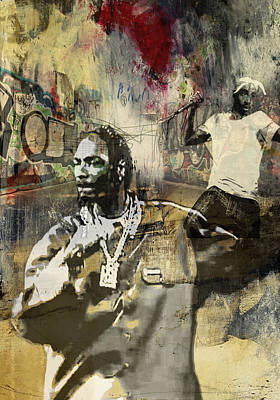 San Diego Artist Mixed Media - Snoop Graffitti  51 by Jani Heinonen