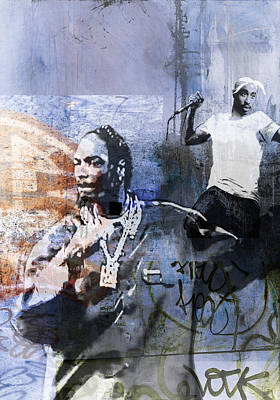 San Diego Artist Mixed Media - Snoop Graffitti  53 by Jani Heinonen