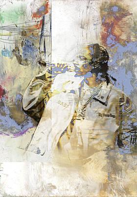 Singer Painting - Snoop Graffitti 6775 by Jani Heinonen